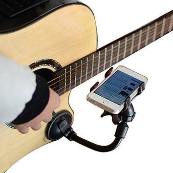 Guitar Phone Holder Stand Street Singing watch lyrics Song Car Holder Sucker Suction Cups Musicians Guitar Stand Car-Holder