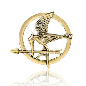 Laugh at the bird pin Popular Vintage Style Birds Brooches The Hunger Games Fans' gifts men Jewerly