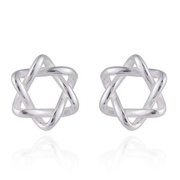 Star of David 925 Sterling Silver Stud Earrings for Women Star Jewelry Birthday Gift