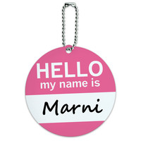 Marni Hello My Name Is Round ID Card Luggage Tag