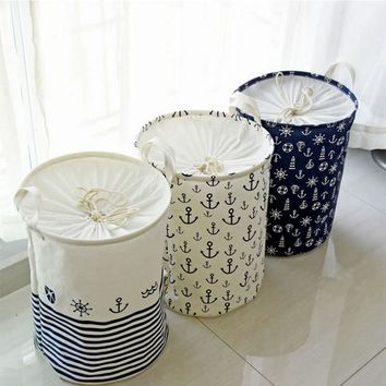 New Patterns Laundry Basket Dirty Clothes Storage Basket Folding Storage Basket Toys Home Storage Bag Laundry Basket #87109