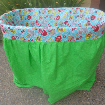 Custom made bassinet cover and matching sheet