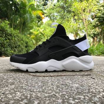 DCK7YE Best Online Sale Nike Air Huarache 4 Rainbow Ultra Breathe Men Women Hurache Black/Whi