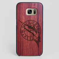 Florida Marlins Galaxy S7 Edge Case - All Wood Everything