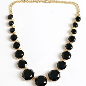 Set In Stone Necklace Black