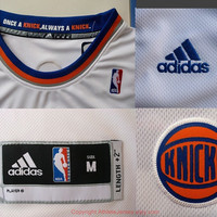 Carmelo Anthony New York Knicks 7 NBA Jersey White Blue Super Rare Carmelo Anthony Sports Basketball All Stitched and Sewn Any Size S - XXL