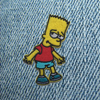 BART SIMPSON IRON ON PATCH – tibbs & BONES