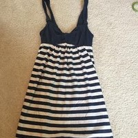 Abercrombie & Fitch Navy And White Stripped Dress