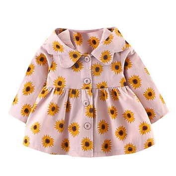 Hot selling Baby Infant Girls dresses Coat Autumn Winter Hooded Coat Cloak Jacket Thick Warm Clothes fashion soft prince JY