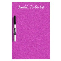 Dry Erase Board, To-Do List, Personalize, Hot Pink Dry-Erase Board