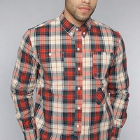 Amongst Friends The Plaid Buttondown Shirt in Orange,Buttondown Shirts for Men