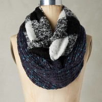 Patched Plaid Infinity Scarf