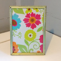 Picture Frame, 5 x 7, Pretty, Vintage, Metal, Gold