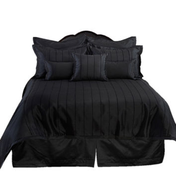 Veratax Home Decorative Bedding Collection Braxton Boudoir Pillow Boudoir Black