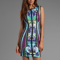 Clover Canyon Graphic Flowers Neoprene Dress in Multi from REVOLVEclothing.com