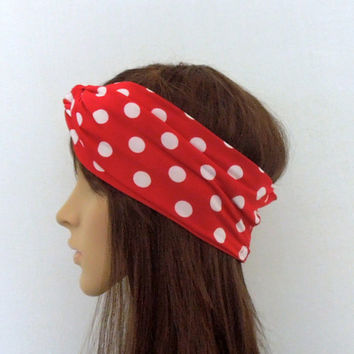 Red Polka Dot Turban