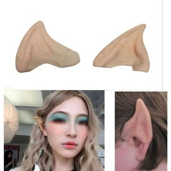 ICIK272 Halloween Party Cosplay Accessories Latex Soft Pointed Prosthetic Wizard Elf Fairy Hobbit Vulcan Spock Alien Costume Tips Ears