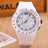 Fashion Womens Mens Minimalist Jelly Band Strap Watch Best Gift watches-439