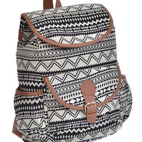Aztec Geometric Print Backpack