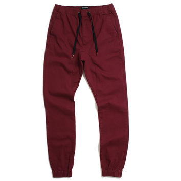 Sureshot Chino Jogger Pants Burgundy
