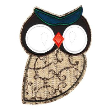XL Extra Large 13cm Owl Patch