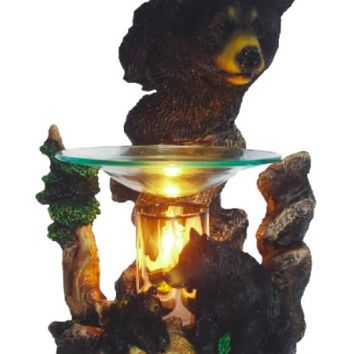 Bear Head Table Fragrance Aroma Lamp Oil Diffuser Wax Tart Candle Warmer Burner Home Decor