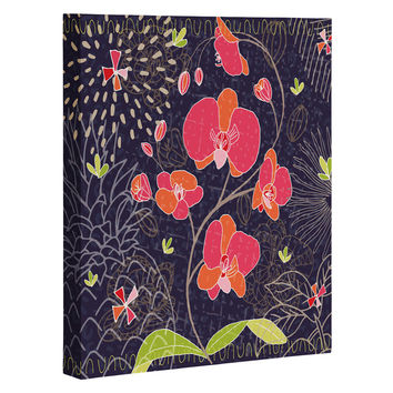 Kerrie Satava Orchid Bloom Art Canvas
