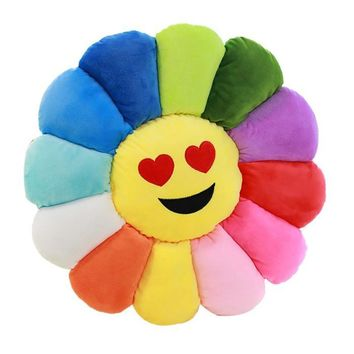 Heart Eyes - Flower Power Emoji Pillow