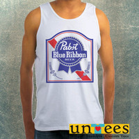 Pabst Blue Ribbon Logo Clothing Tank Top For Mens