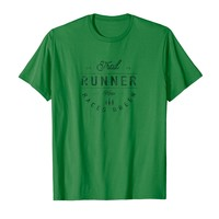 Trail Runner - Keep Races Green Distressed T-Shirt Gift