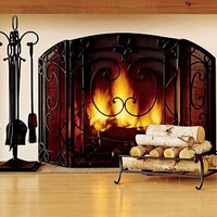 Aspen Triple Screen Fireplace Collection | Pottery Barn
