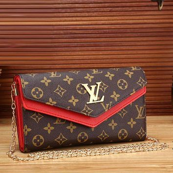 Louis Vuitton Trending Women Fashion Leather Satchel Shoulder Bag Crossbody Red G