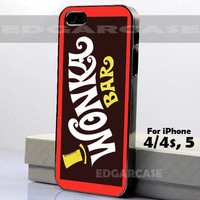 5753 Willy Wonka - WONKA BAR - Hard Cover - For iPhone 4 / 4S, iPhone 5 - Black / White Case