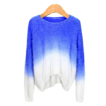 Sea Winter Sweets Gradient Sweater [8115658241]