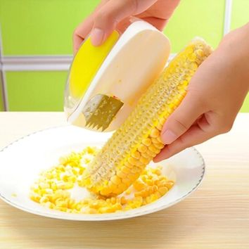 Corn Stripper Peeler Corn Kernels Cob Remover Cutter Protecting Hand Gadgets Kitchen Cooking Accessories Tools