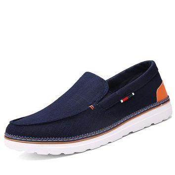 New Men Casual Canvas Slip-on Shoes size 8,9,10