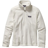 Patagonia Women's Micro D 1/4 Zip Birch White