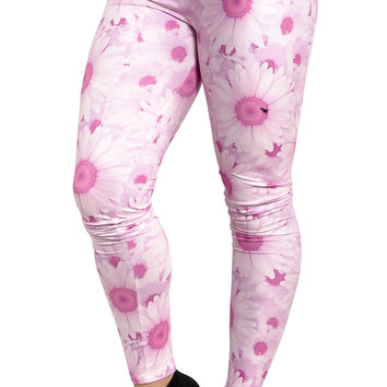 BadAssLeggings Women's Sunflower Leggings Pink