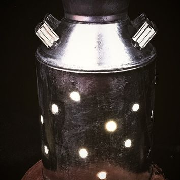 Small Galvanized Milk Can Table Lamp