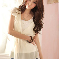 Super Quality Cheap Price Apricot Ladies Blouses : Yoco-fashion.com