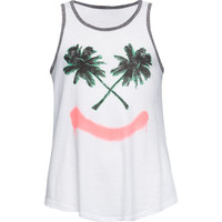 Billabong Palm Smile Girls Tank White  In Sizes
