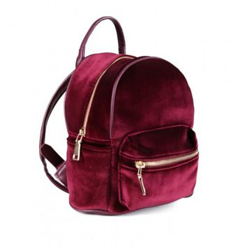 Mini Velvet Backpack