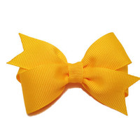 Yellow hair bow - yellow bow, toddler bow, baby bow