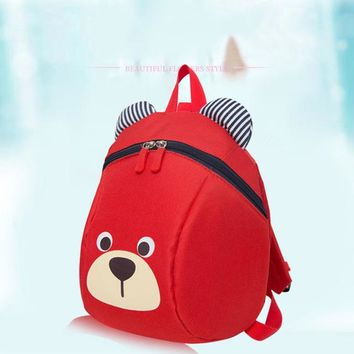 Toddler Backpack class Cute Children Toddler Animal Dog Pattern Anti-Lost Backpack Bag Mochila Anti Lost AT_50_3