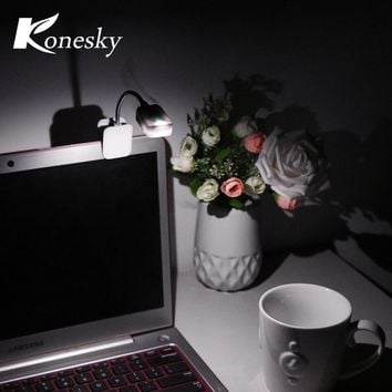 Konesky For Kindle Clip-on LED Reading Light Night Lights Lamps Table Desk Lamp Mini Flexible Book Music Score Night Lights