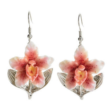 Franz Collection Orchid Flower Earrings