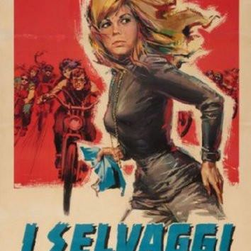 Wild Angels Italian Movie poster Metal Sign Wall Art 8in x 12in