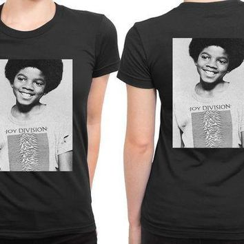 CREYP7V Michael Jackson Boy Use Joy Division Tee 2 Sided Womens T Shirt