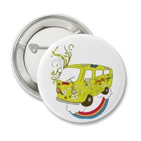 Hippie Van ~ Sixties Peace Love Pinback Buttons from Zazzle.com