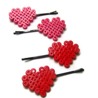 Heart Hair Pins from Mizziexoxo Boutique